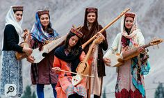 Girls Play Different Musical instruments Hunza Valley Gilgit Pakistan