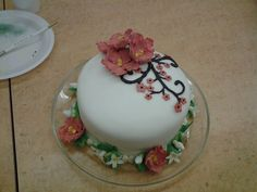 My final cake for Wilton Course 4 at Michael's #1550 in Prattville, AL! #wiltoncontest