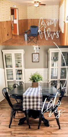 A dining room decor to make your guests feel envy! Grab the best dining room decor ideas to make your dining room design be the best when it comes to modern dining rooms designs. A best of when it comes to interior design ideas. Dining Room Walls, Dining Room Design, Dining Room Furniture, Dining Room Decorating, Cabinets In Dining Room, Dining Room In Kitchen, Farmhouse Dining Rooms, Dining Cabinet, Dining Room Windows