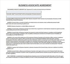 Business Associate Agreement Template   Http://www.valery Novoselsky.org