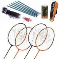 Carlton Powerblade 4 Spieler Badminton Set mit Netzgarnitur Sport, Round Glass, Deporte, Excercise, Sports, Exercise