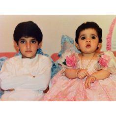 Hamdan MRM y su hermana Latifa MRM. Vía: Fazza