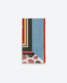 Image 4 of SUMMER COLOURS PRINT SCARF from Zara
