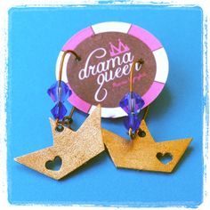 Boat earrings made by Drama Queen