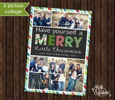 Multiple Photo Collage Christmas Card  (You by mybellemichelleshop, $6.99)