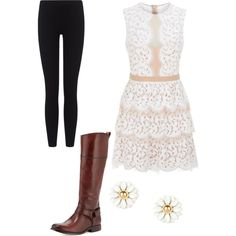 Country Chic 1 by twirlgirl11 on Polyvore featuring polyvore, fashion, style, BCBGMAXAZRIA, James Perse, Frye and country