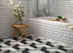 Rhombus Mix Series Porcelain Tile 5.5x9.5 eclectic-bathroom
