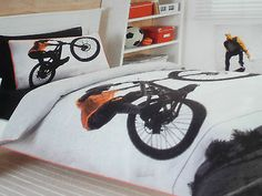 BOYS BMX Stunt Rider SINGLE BED QUILT/DOONA COVER SET BNIP Bikes