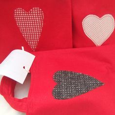 Felt Bags with Lovehearts