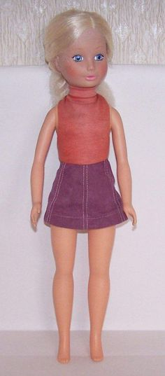 DOLL BY REMCO INC HONG KONG AND DATED 1972 TO THE BACK OF HER NECK. 19 INCHES TALL