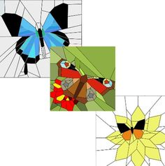 (7) Name: 'Quilting : Three butterflies