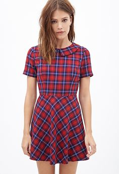 Plaid Fit & Flare Dress- Forever 21- $27.90