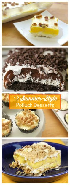 These summer-style potluck desserts are great for sharing. Bring them to your next cookout or picnic!