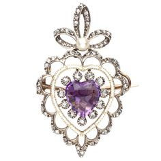 1stdibs - Fit for a Princess: Diamond and Amethyst Pendant/Brooch explore items from 1,700  global dealers at 1stdibs.com