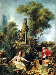 Jean-Honore Fragonard, The Secret Meeting, from The Progress of Love series, 1771-1773.
