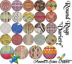 """Sims 4 CC's - The Best: Round Rugs """"Variety"""" by Annett85"""