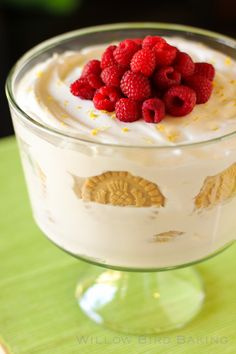 Limoncello-Spiked Shortbread Icebox Cake with Fresh Raspberries
