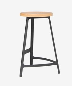 Obodo – Factory Counter Stool with Timber Seat by Sean Dix