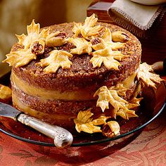 Pecan Pie Cake - A decadent Pecan Pie Filling is used instead of frosting between the layers