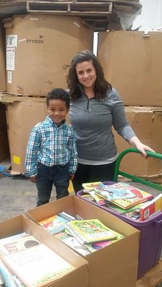 "We recently had the pleasure of working with this amazing 4 year old. He (with the help of his mom) started a company and they do good deeds throughout the community. A lot of events they participate in involve books – for example ""read across america day"" coming up. Keep up the good work! #Kidtimeenterprises #bookdonations #usedbooks #books"