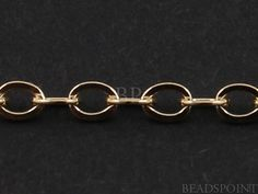 14k Gold Filled Oval Cable Chain Medium Weight by Beadspoint, $7.99