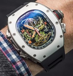 """#SIHH2016: Richard Mille RM 50-02 ACJ Tourbillon Split Seconds Chronograph Watch For Airbus Corporate Jets Hands-On - by Ariel Adams - hands-on photos, hands-on video, all about it on aBlogtoWatch.com """"Debuted at SIHH 2016 is this new and truly awesome (in both price and design) aviation watch from Richard Mille designed in collaboration with Airbus' private jet division. ACJ stands for 'Airbus Corporate Jets' and this arm of the French airplane company produces jetliners..."""""""