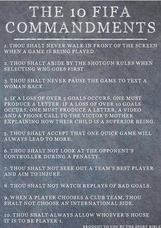 """""""Not long until FIFA 15 is released. Let's all remember the 10 FIFA commandments! Soccer Skills, Soccer Tips, Chicken Breast Recipes Healthy, Healthy Recipes, Fifa 17 Ultimate Team, Fifa 15, Top Soccer, Soccer Workouts, Woman Back"""
