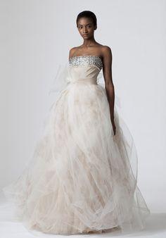 Fashional Beads Working Empire Wasit Gauze Satin Ball Gown Wedding Apparels