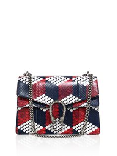 497e65e04bd2 Gaga for Gucci Dionysus Medium Cube-print Python Shoulder Bag in Blue  (ivory-