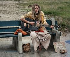 "The most authentic hippie I've seen yet. ""Spiritual journey of the material realm,"" indeed. Hippie Style, Hippie Love, Hippie Bohemian, Gypsy Style, Locs, Ibiza, Asian Men Long Hair, Psytrance Clothing, Rainbow Gathering"