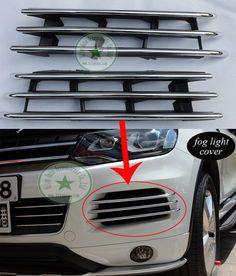 80.00$  Buy now - http://aliqj0.worldwells.pw/go.php?t=1871891036 - VW Touareg fog light lamp chrome decoration cover/trim, left+right, 2PCS/set, for Touareg 2011 2012 2013 2014, little profit 80.00$