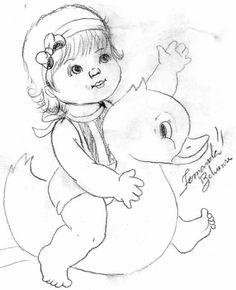 Bebê com patinho