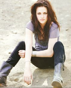 the most beautiful woman casted to play a plain jane type girl for the twilight saga... Kristen Stewart Kristen Stewart Kristen Stewart