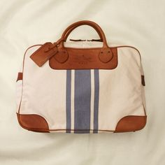 rugby canvas & leather weekender