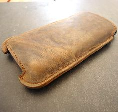 Genuine Leather Wallet iPhone 4/4S Sleeve Case by WaffenSS on Etsy, $34.00