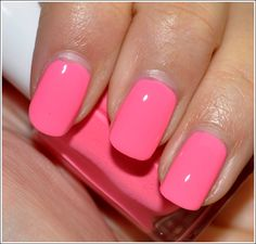"Essie Knockout Pout.... because I love anything that can be accurately described as ""Barbie pink"""