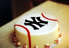cute & simple - groom cake - except it'd have to be boston, def. not yankees.  :)