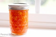 Peach vanilla bean freezer jam recipe   Peanut Blossom