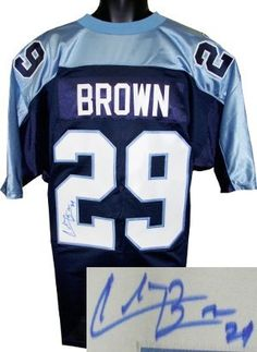 Chris Brown was drafted by the Tennessee Titans in the round of the 2003  NFL Draft. Chris Brown has hand autographed this Tennessee Titans Blue  Prostyle 1254dcc5d
