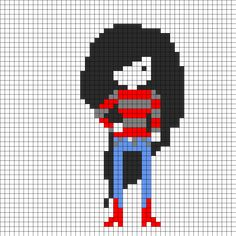 Marceline Adventure Time Perler Bead Pattern | Bead Sprites | Characters Fuse Bead Patterns