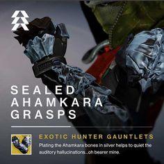 Destiny The Taken King - Exotic Gauntlets - Sealed Ahamkara Grasps