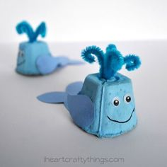 Who knew something so ugly could turn into something so cute? The best part is that this Egg Carton Whale Craft is so easy, kids can help make them, too.