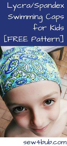 Lycra/spandex Swimming Caps for kids Free Pattern sew4bub.com