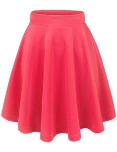 Amazon.com: Thanth Womens Versatile Stretchy Pleated Flare Short Skater Skirt: Clothing