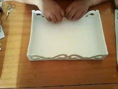 Como fazer bandeja para doces com caixas de leite - YouTube