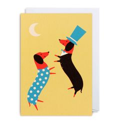 DANCING DACHSUNDS Card