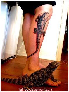 lizard animal tattoo idea image photo picture tattoos art design styles http://www.tattoo-designiart.com/animals-tattoos/lizard-tattoo-design-23/