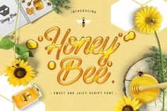 Honey Bee is a vibrant buzzing typeface which can be used to create swarms of new projects. This sweet and juicy script font includes additional swashes and extras to ensure your design work is always bee-autiful! Cool Fonts, New Fonts, Bee Free, Font Design, Graphic Design, Cricut Fonts, Free Fonts Download, Font Free, Calligraphy Fonts