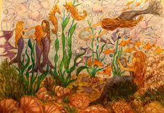 GALERIA PALOMO MARIA LUISA: LA DANZA DE LAS SIRENAS Painting, Art, Mermaids, Scenery, Art Background, Painting Art, Kunst, Paintings, Performing Arts
