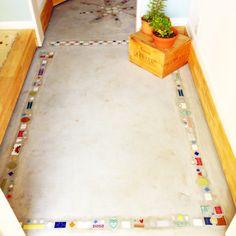 xxlove-aixxさんの、アンティークタイル,コンクリート,土間玄関,玄関,玄関/入り口,のお部屋写真